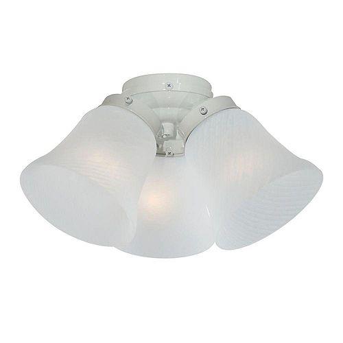 Appareil d'éclairage avec abat-jour blanc couleur en Blanc