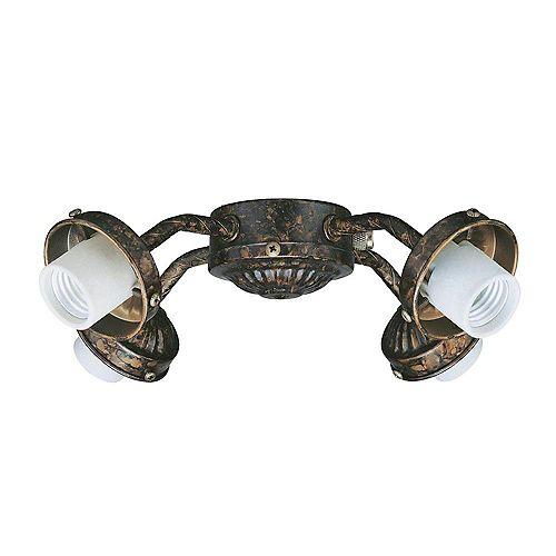 Appareil d'éclairage avec style couleur en bronze