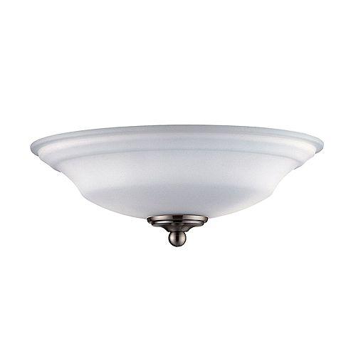 Appareil d'éclairage avec abat-jour blanc couleur en argent
