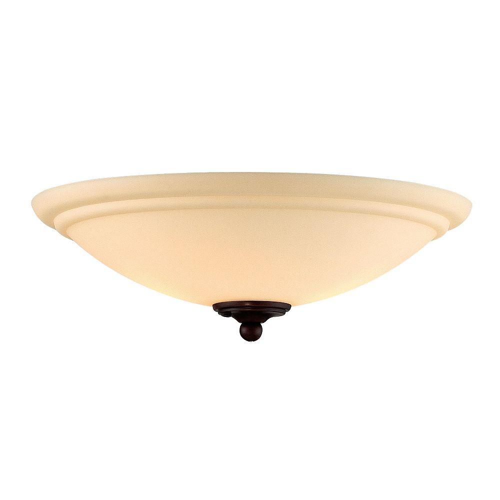 Illumine Appareil d'éclairage avec abat-jour blanc couleur en bronze