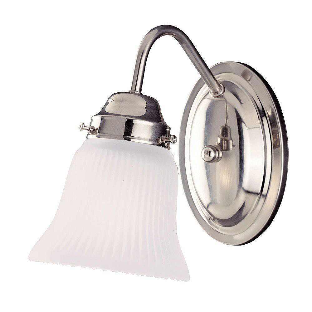 Illumine Satin 1-Light Nickel Wall Sconce