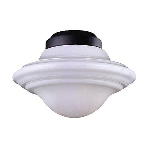 Appareil d'éclairage avec abat-jour blanc couleur en noir