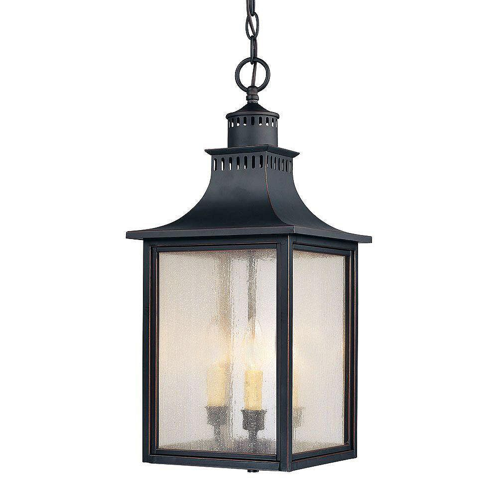 Illumine Satin 3 Light Black Incandescent Outdoor Post Lantern With White Glass