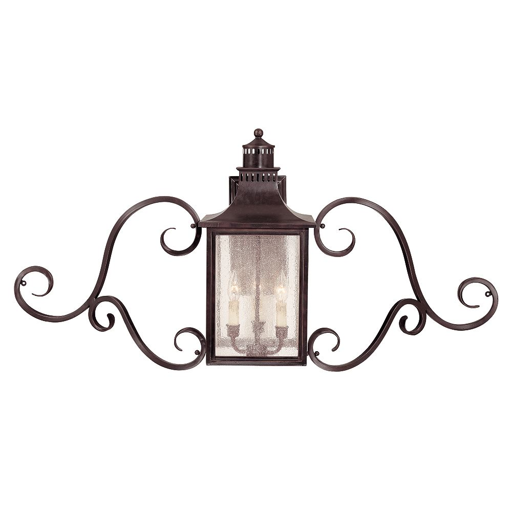 Illumine Satin 3 Light Bronze Halogen Outdoor Wall Mount With White Glass