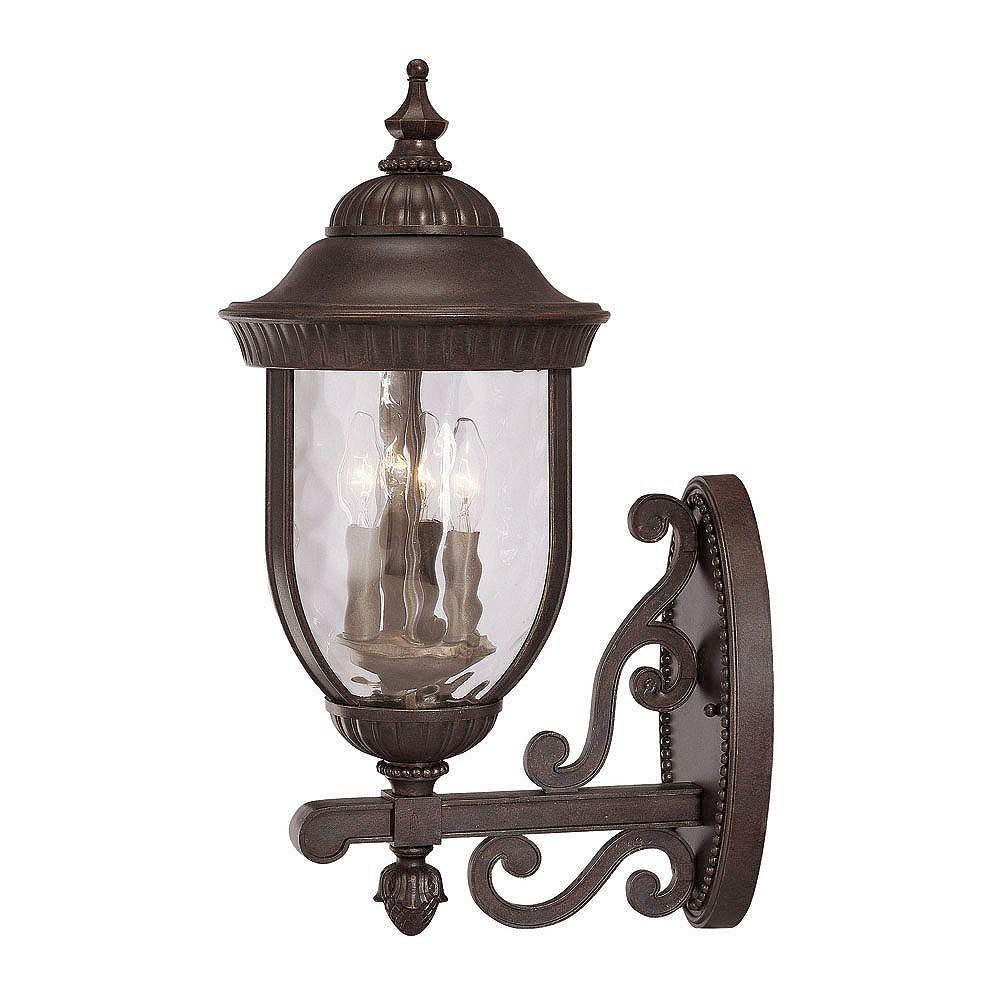 Illumine Satin 3 Light Bronze Incandescent Outdoor Wall Mount With Clear Glass