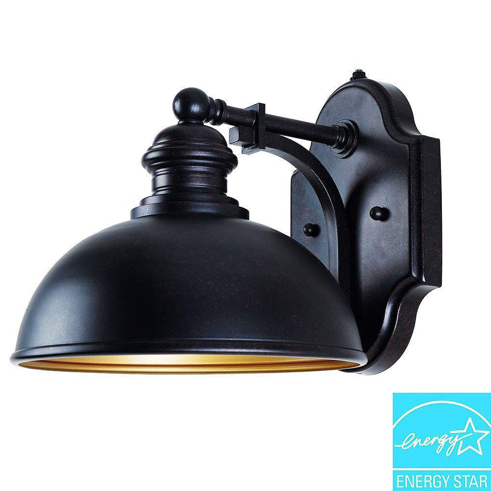 Illumine Satin 1 Light Bronze Fluorescent Outdoor Wall Mount
