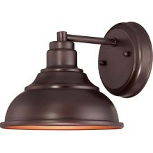 Satin 1 Light Bronze Incandescent Outdoor Wall Mount
