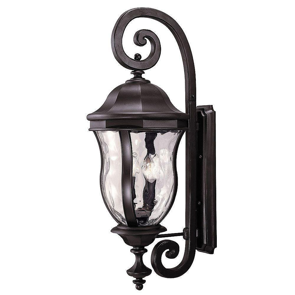 Illumine Satin 4 Light Bronze Halogen Outdoor Wall Mount With Clear Glass