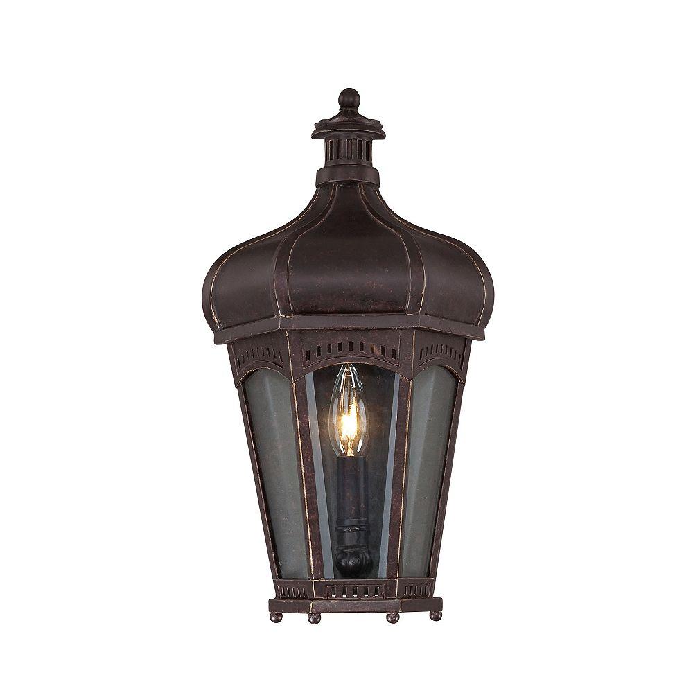 Illumine Satin 1 Light Bronze Halogen Outdoor Pocket Lantern With Clear Glass