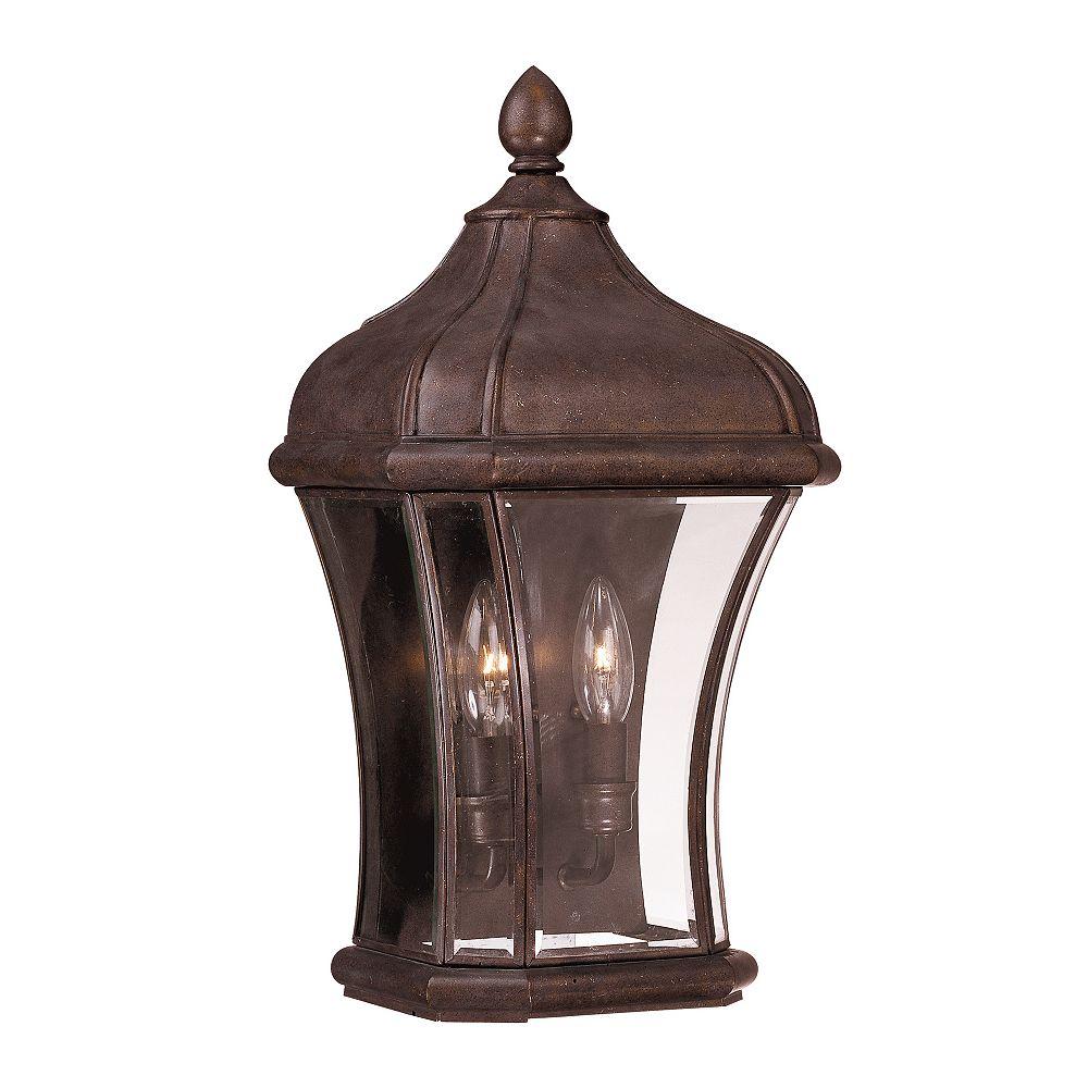 Illumine Satin 2-Light Bronze Outdoor Pocket Lantern with Clear Glass