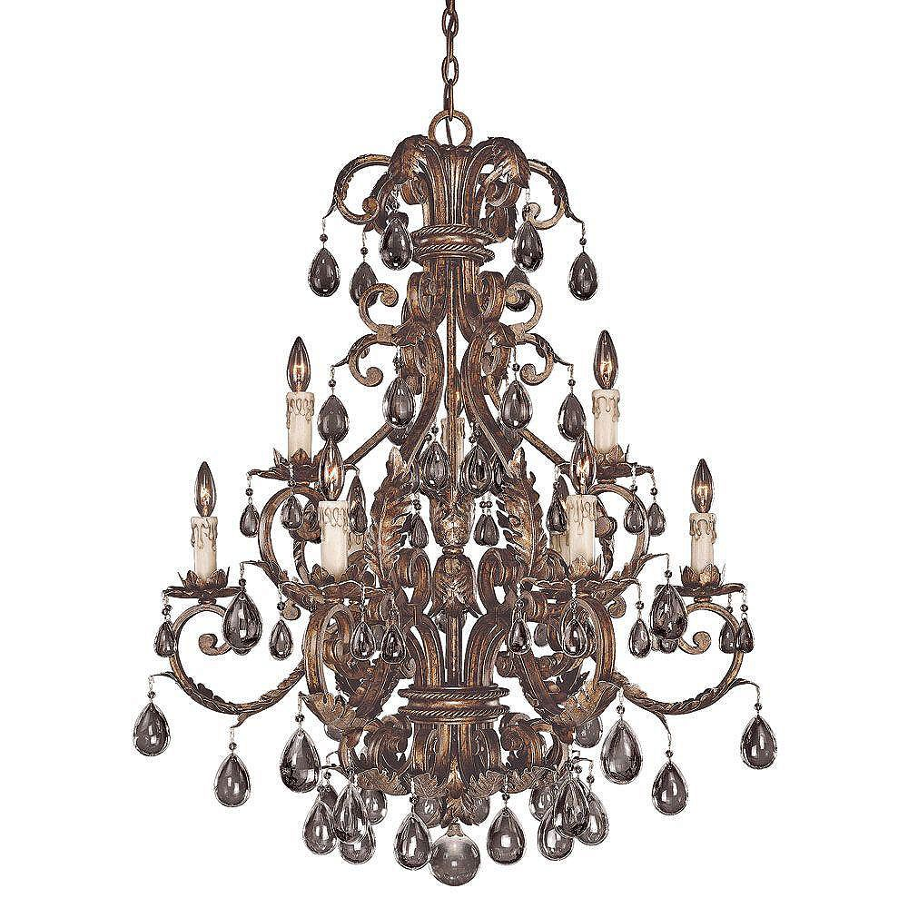 Illumine Satin 16 Light Bronze Incandescent Chandelier With Clear Glass