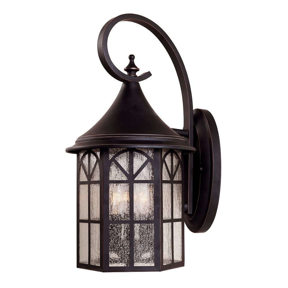 Illumine Satin 3 Light Black Halogen Outdoor Wall Mount With White Glass