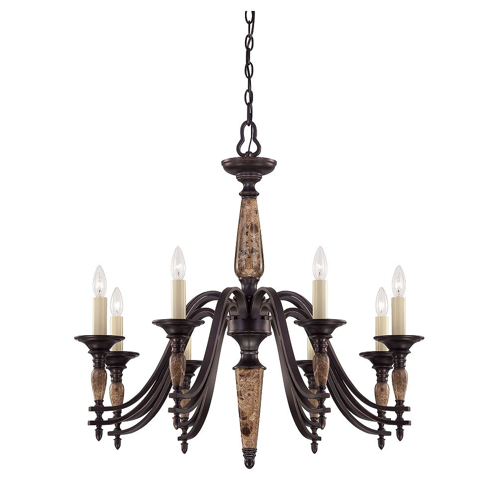 Illumine Satin 8 Light Bronze Incandescent Chandelier