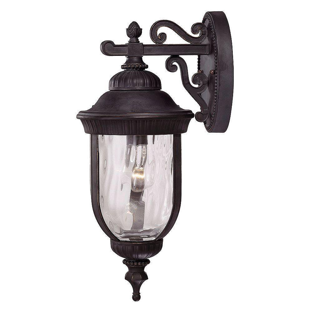 Illumine Satin 1 Light Black Incandescent Outdoor Wall Mount With Clear Glass