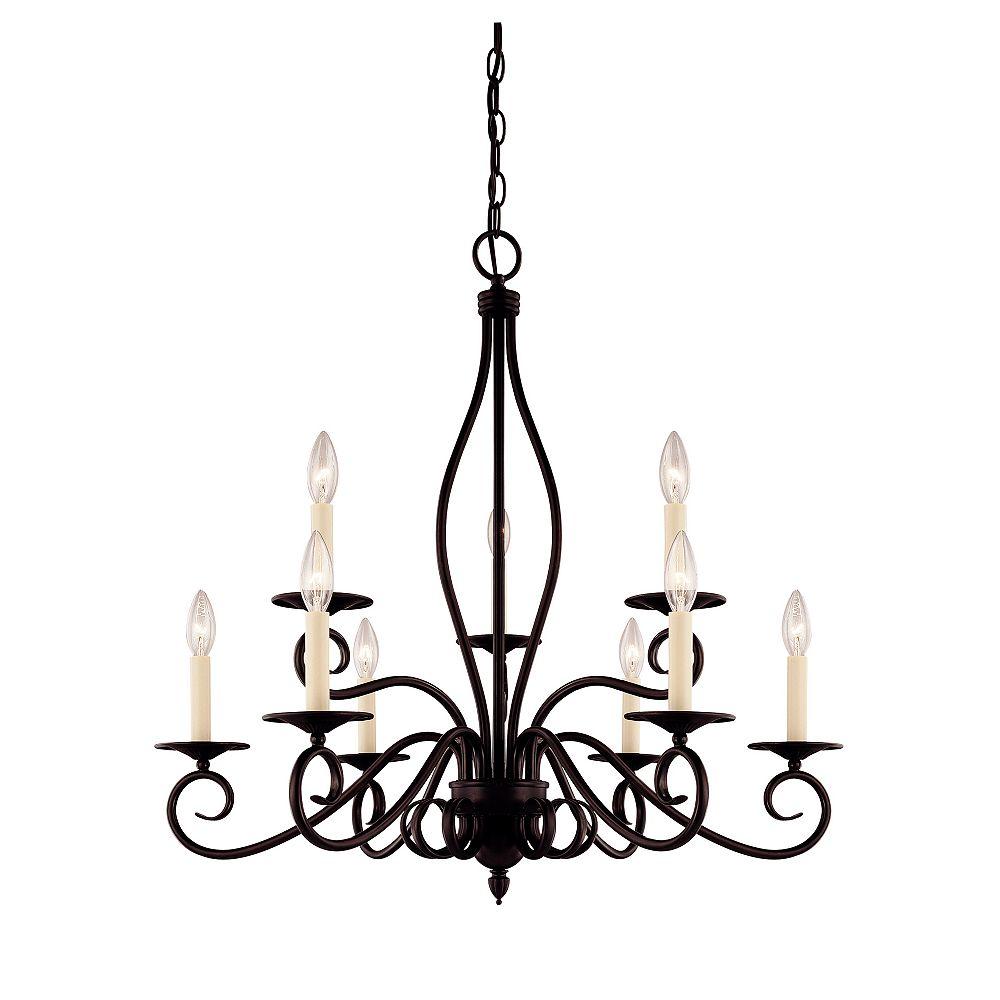 Illumine Satin 9-Light Bronze Chandelier