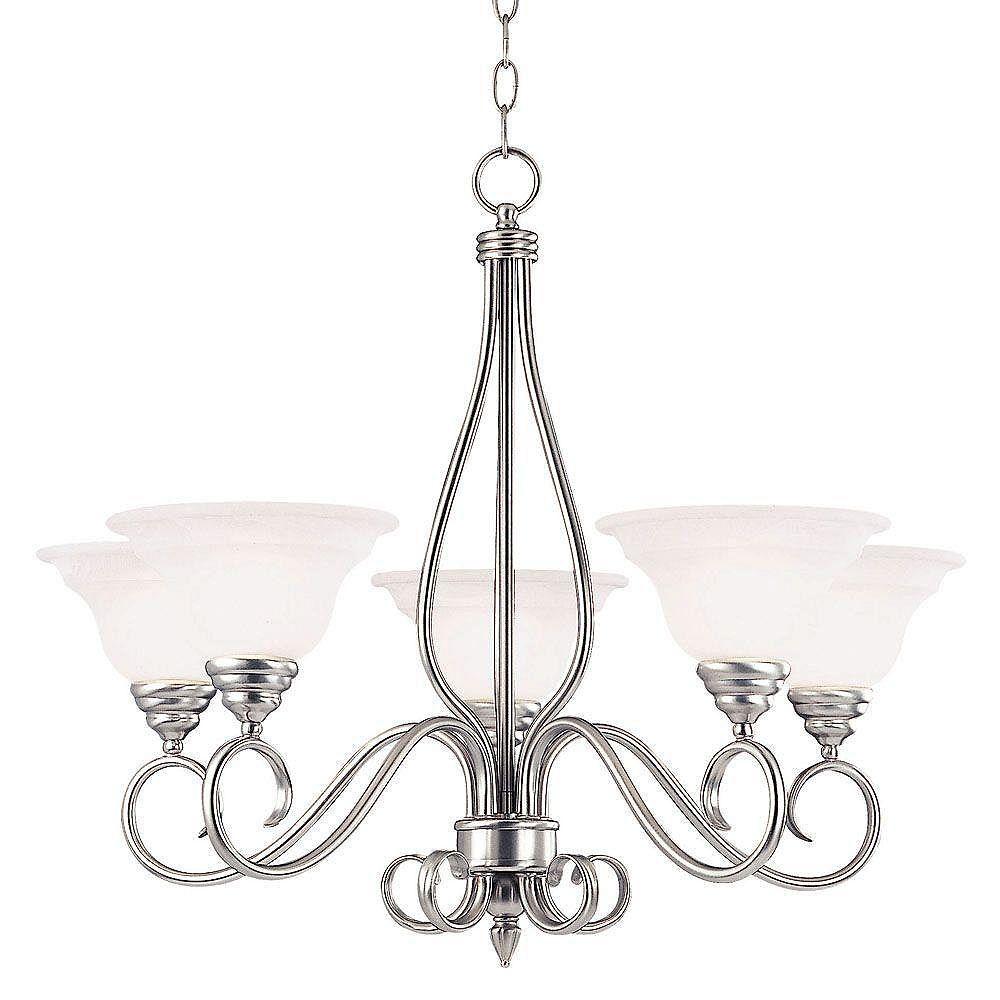 Illumine Satin 5-Light Bronze Chandelier