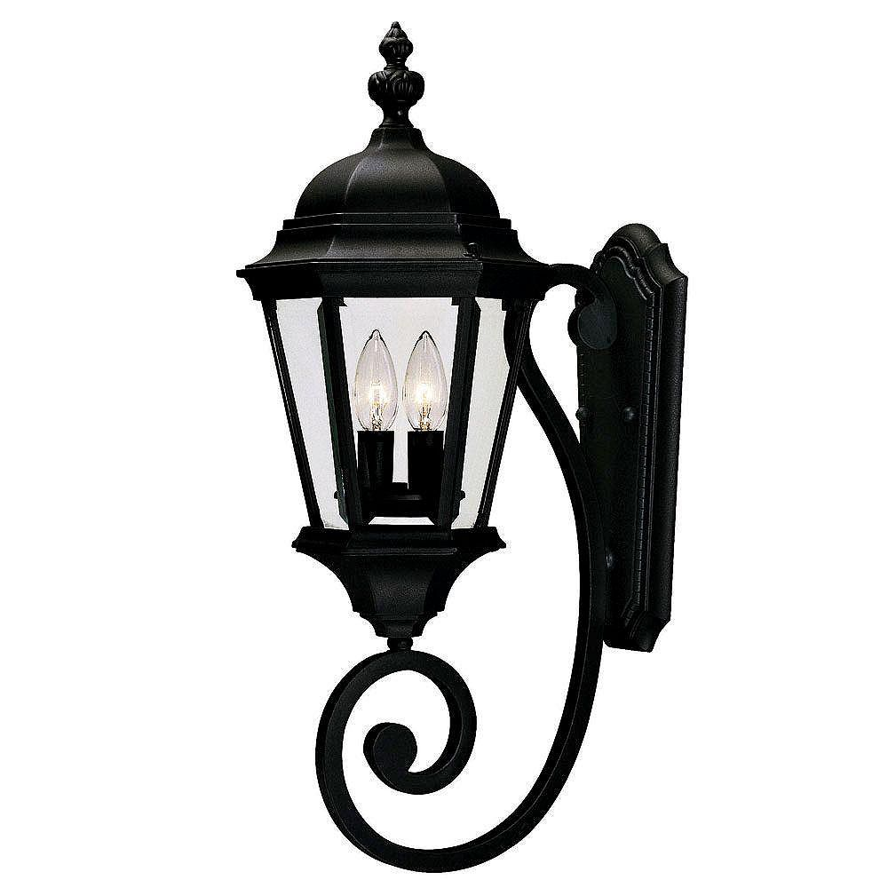 Illumine Satin 1-Light Bronze Outdoor Wall Mount with Clear Glass