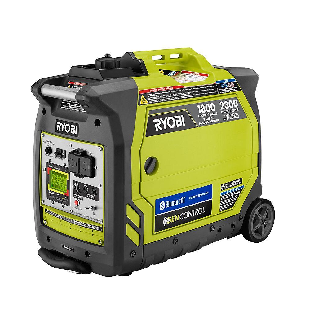 RYOBI Bluetooth 2,300-Watt Super Quiet Gasoline Powered Digital Inverter Generator