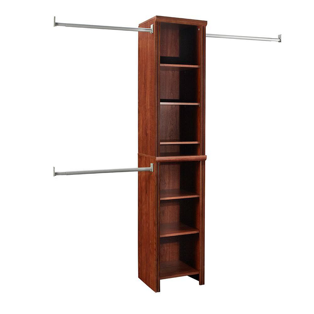 ClosetMaid Impressions 4 ft. to 9 ft. W Narrow Closet Kit in Dark Cherry