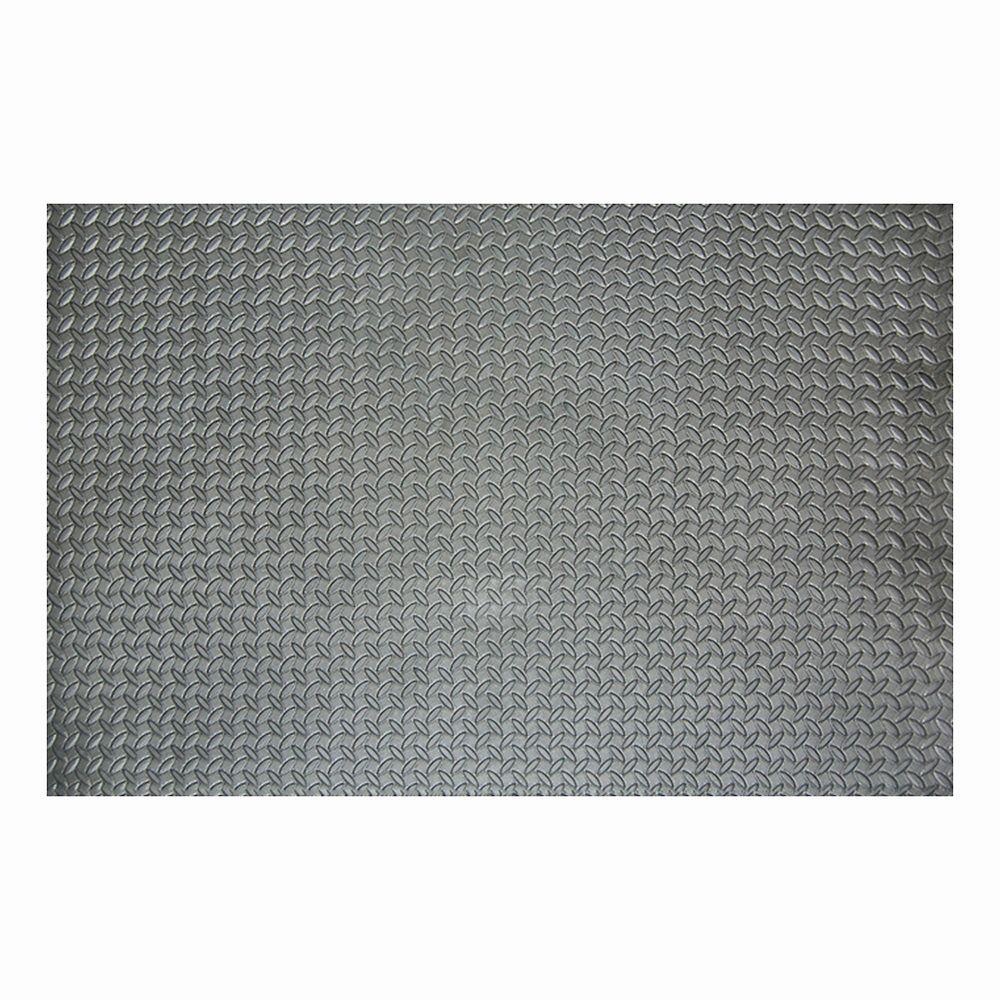 TrafficMASTER 46-inch x 93-inch Grey Foam Mat