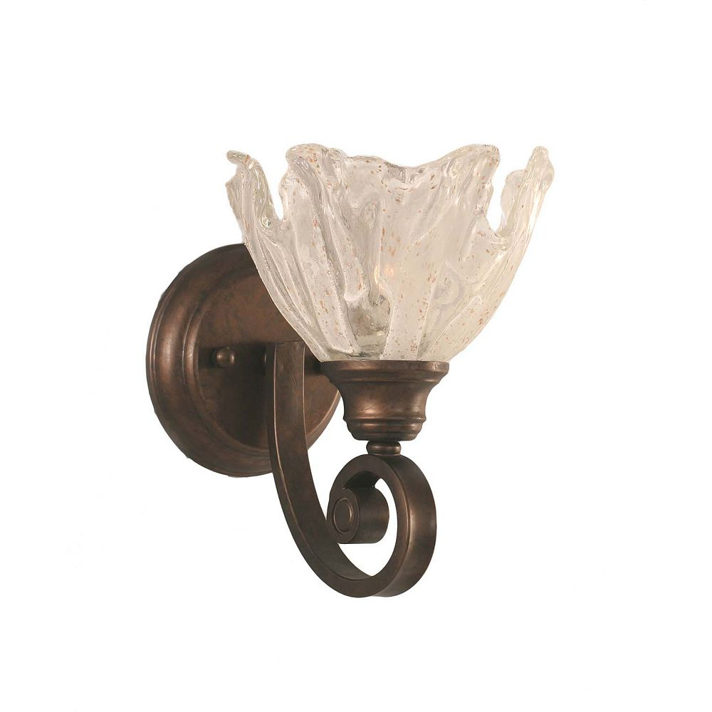 Filament Design Concord 1-Light Wall Bronze Wall Sconce with a Clear Crystal Glass
