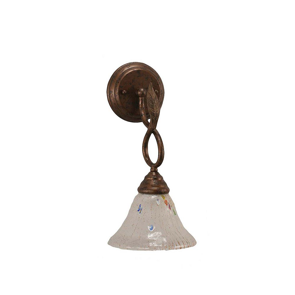 Filament Design Concord 1 Light Wall Bronze Incandescent Wall Sconce with a Frosted Crystal Glass