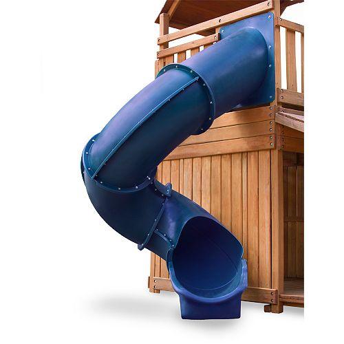 Super glissade tube bleue