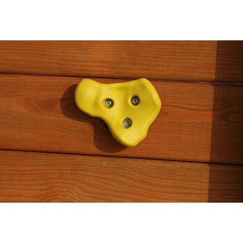 Prises jaunes pour mur descalade (ensemble de5)