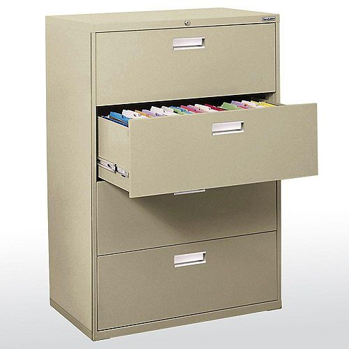 Sandusky 600 Series 36-inch x 53.25-inch x 19.25-inch 4-Drawer Metal Filing Cabinet in Beige