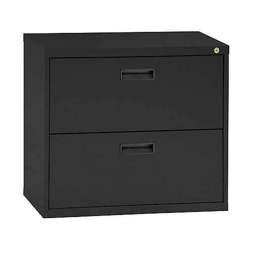 400 Series 30-inch x 27.63-inch x 18-inch 2-Drawer Metal Filing Cabinet in Black