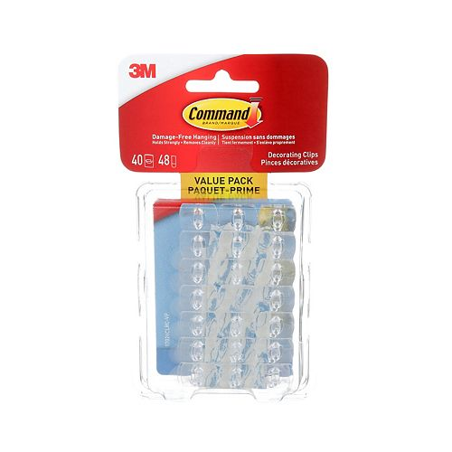 Decorating Clips, 17026CLRC-VP, clear, value pack