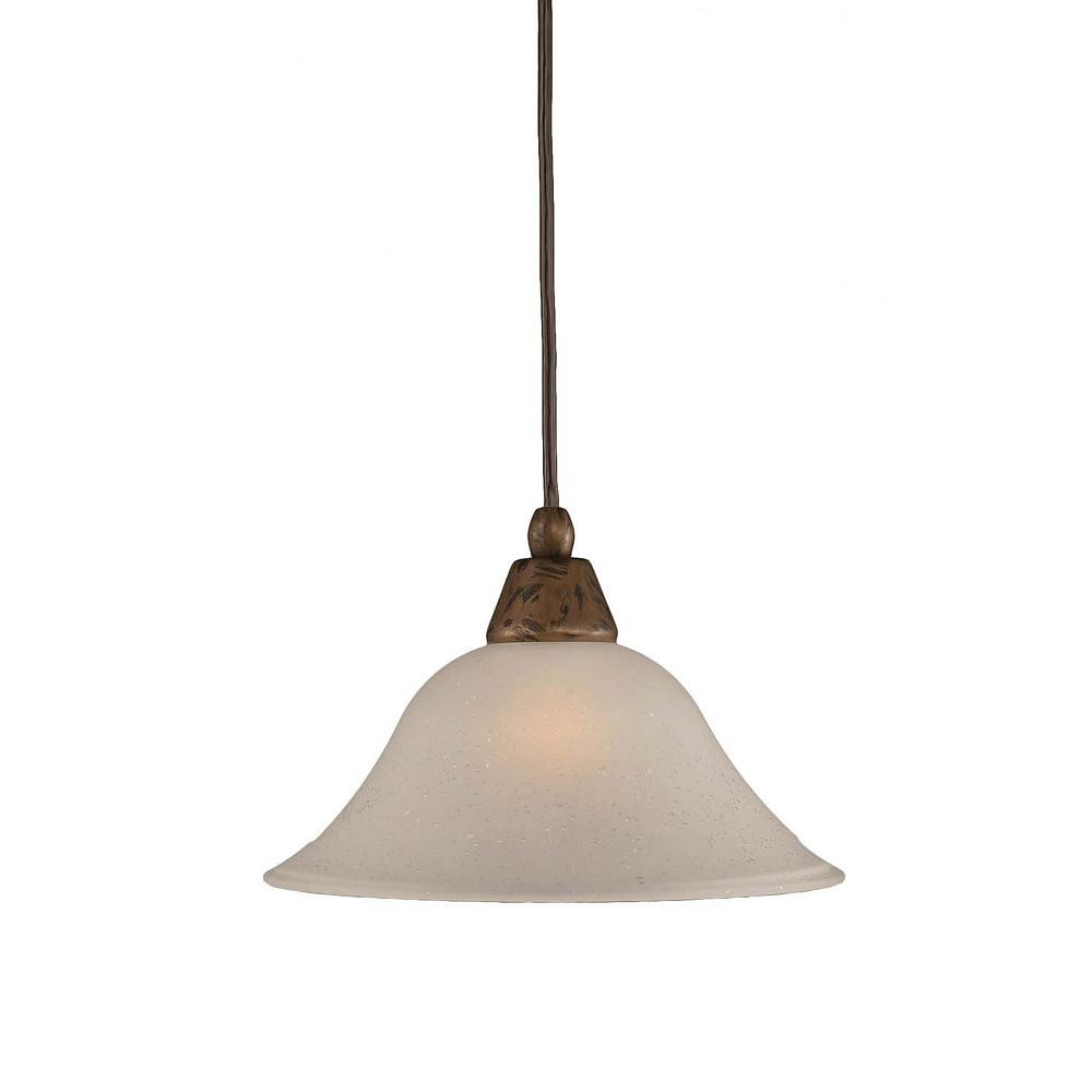 Filament Design Concord 1-Light Ceiling Bronze Pendant with a Dew Drop Glass