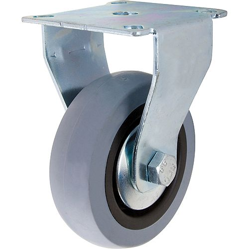 3 inch TPR Rigid Caster with 121 lb. Load Rating