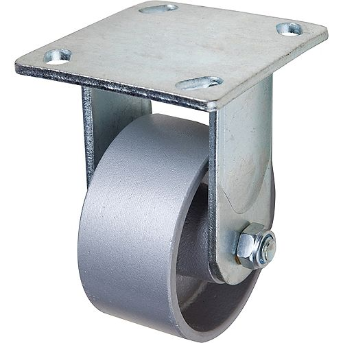 4 inch x 2 inch Rigid Heavy Duty Cast Iron Caster with 700 lb. Load Rating