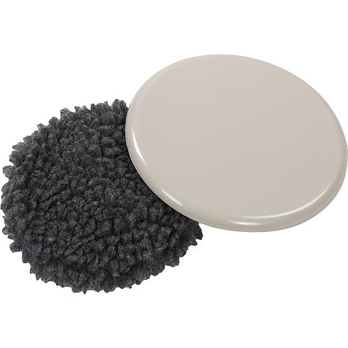 5 inch Reusable, Round, Slide Glide Furniture Sliders with Fleece (4-Pack)