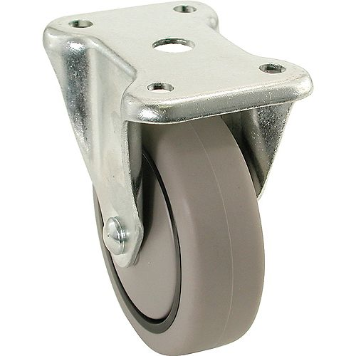 3 inch x 1-1/4 inch Rigid Medium Duty Caster with 180 lb. Load Rating