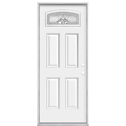 32-inch x 4 9/16-inch Providence Camber Fan Left Hand Entry Door - ENERGY STAR®