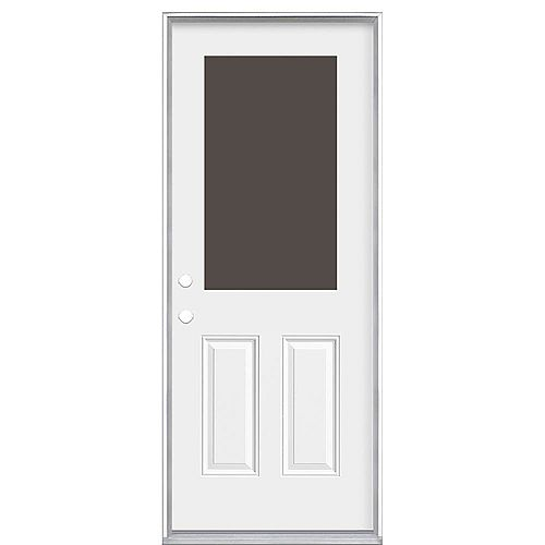 Masonite 36-inch x 6 9/16-inch 1/2-Lite Cutout Right Hand Entry Door