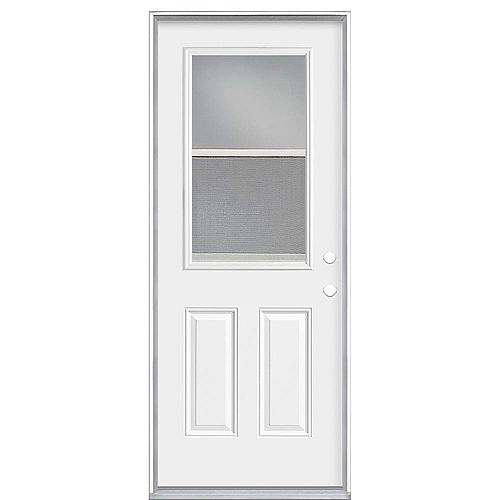 Masonite 32-inch x 80 x 4 9/16-inch Venting 1/2-Lite Left Hand Low-E Door - Energy Star