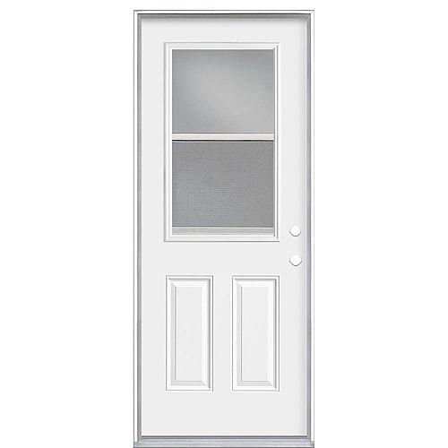 Masonite 34-inch x 80 x 4 9/16-inch Venting 1/2-Lite Left Hand Low-E Door