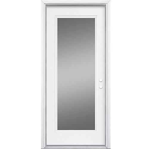 34-inch x 7 1/4-inch Clear 1-Lite Left Hand Low-E Entry Door - ENERGY STAR®