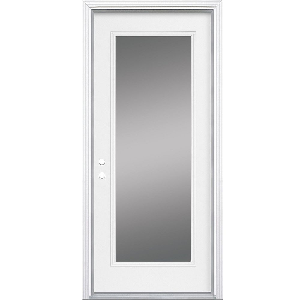 Masonite 34-inch x 7 1/4-inch Clear 1-Lite Right Hand Low-E Entry Door