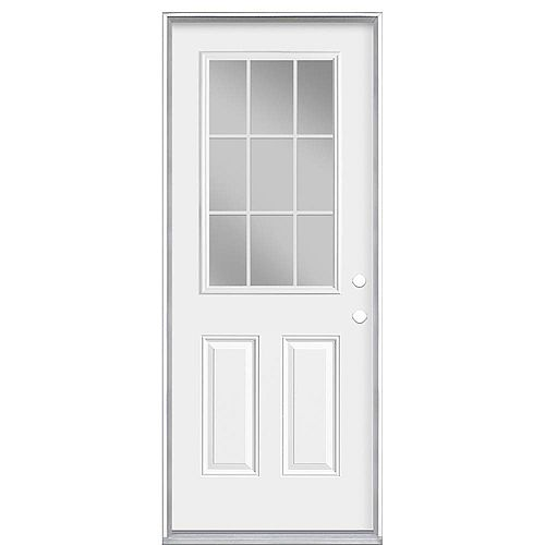 Masonite 32-inch x 80-inch x 4 9/16-inch Internal 9-Lite Left Hand Low-E Door - Energy Star