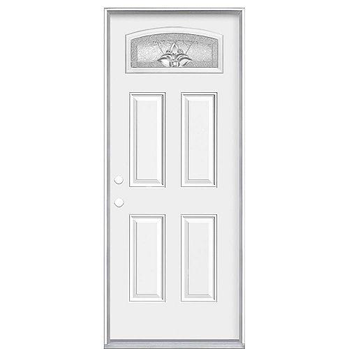 Masonite Porte d'entrée droite du ventilateur Providence Camber 36 pouces x 80 pouces x 6 9/16 pouces - Energy Star