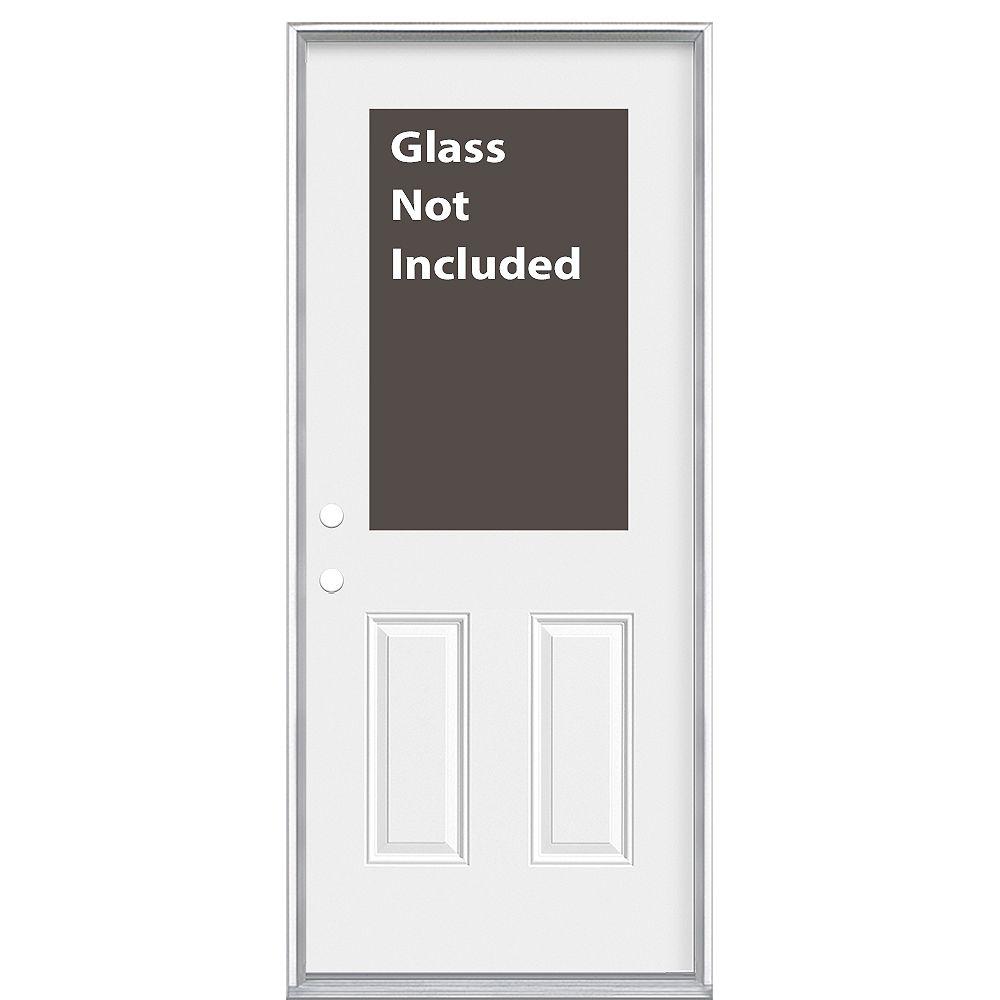 Masonite 34-inch x 6 9/16-inch 1/2-Lite Cutout Right Hand Entry Door