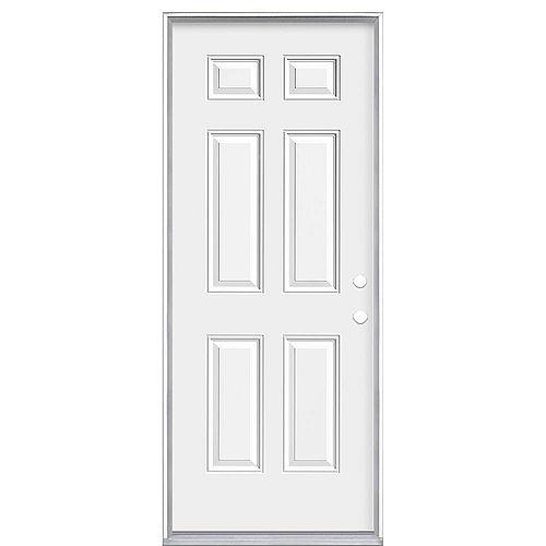 Masonite 32-inch x 80 x 7 1/4-inch 6-Panel Endurance Left Hand Door - Energy Star