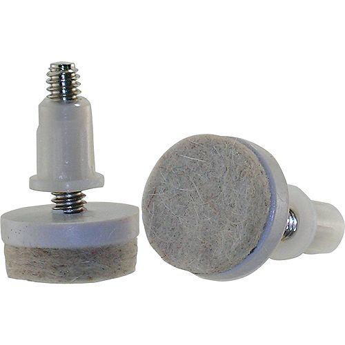 Everbilt Patins à tige filetée de 25 mm avec base en feutre (4 par paquet)