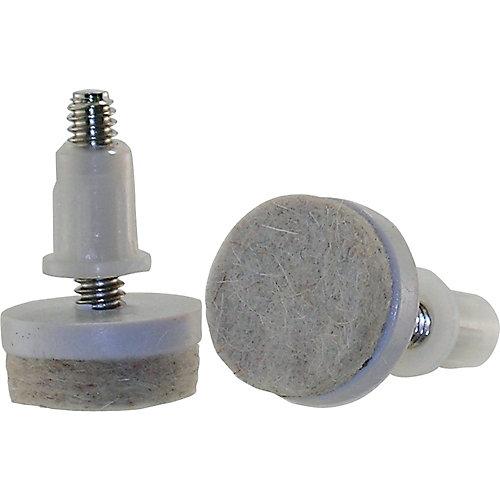 1-1/2-inch Threaded Stem Furniture Glides with Felt Base (4 per Pack)