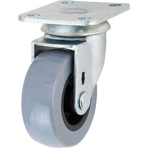 Everbilt Roulette pivotante TPR de 50 mm avec capacité de charge de 34 kg