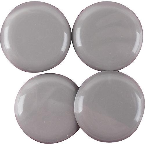 1-1/2 inch Adhesive, Round, Slide Glide Furniture Sliders (4-Pack)